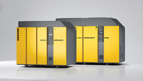 Oil-free compression rotary screw compressors from Kaeser Compressors