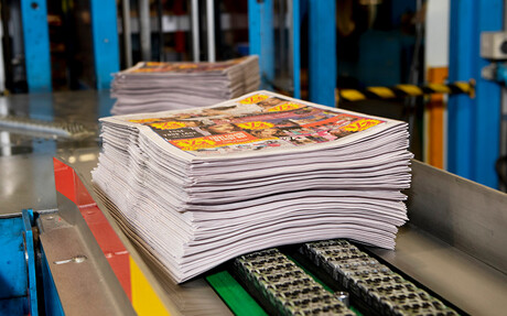 Compressed air is used in the distribution centres where the newspapers are collated and bundled ready for despatch