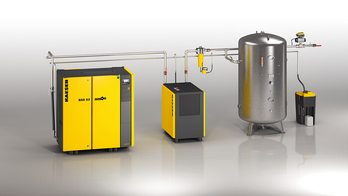 KAESER compressed air system
