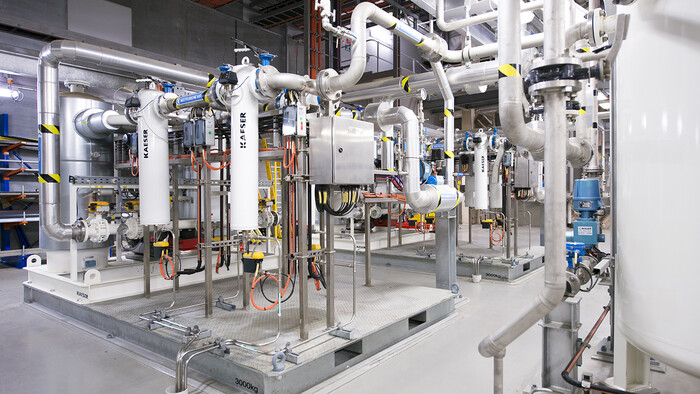 Kaeser instrument air treatment skids at Victorian Desalination Plant