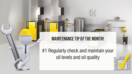 Maintenance tip of the month with KAESER AIR SERVICE